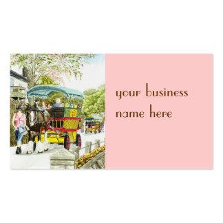 'Polperro Horse Bus' Business Card