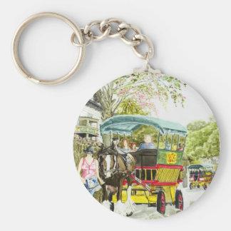 'Polperro Horse Bus' Keychain