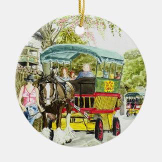 'Polperro Horse Bus' Ornament