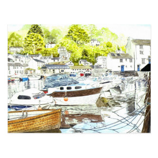 Polperro Reflections Postcard
