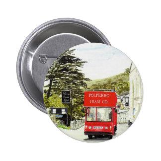 'Polperro Tram' Button