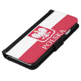 Polska Polish White Eagle Flag iPhone 6 Wallet Case
