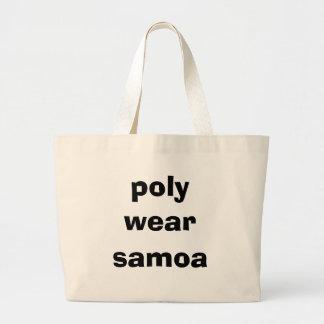 poly wear, samoa jumbo tote bag