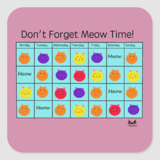 Polyamory Cat: Meow Time Sticker