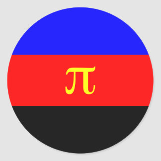 Polyamory Flag -- Pi 3-color Classic Round Sticker