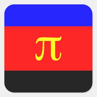 Polyamory Flag -- Pi 3-color Square Sticker