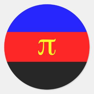 Polyamory, Panama flag Classic Round Sticker