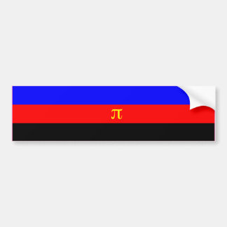 POLYAMORY PRIDE FLAG BAR BUMPER STICKER