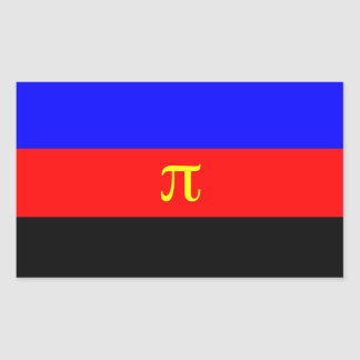 Polyamory Pride Flag Rectangular Sticker