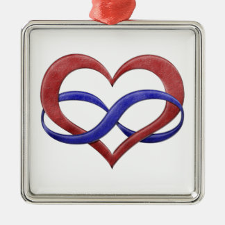 Polyamory Pride Infinity Heart Christmas Ornament