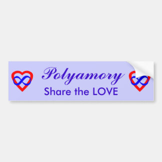 Polyamory, Share the Love. Bumper Sticker