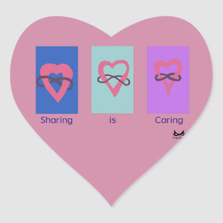 Polyamory: Sharing is Caring/ Poly Logos Heart Sticker