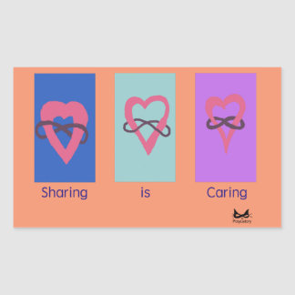 Polyamory: Sharing is Caring/ Poly Logos Rectangular Sticker