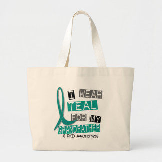 Polycystic Kidney Disease PKD Teal For Grandfather Tote Bags