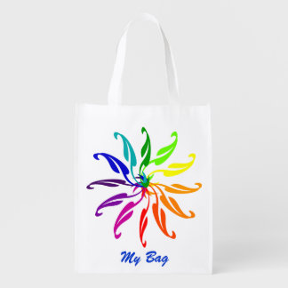 Polyester Bag - Colour Wheels and Text