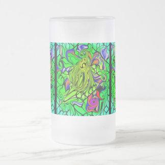 POLYGON FUSION FROSTED GLASS MUG