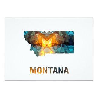 Polygon Mosaic State Map  MONTANA Card