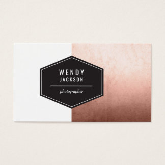 Polygon Rose Gold Business Card