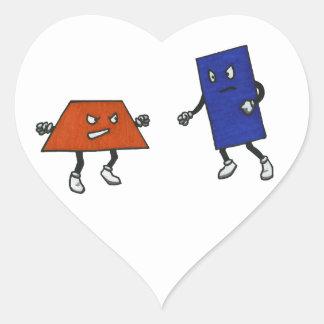 Polygon Wrestling Federation Heart Sticker