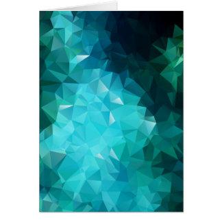 Polygonal Aquamarine Abstract Card