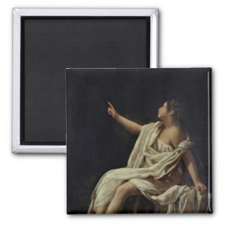 Polyhymnia, the Muse of Lyric Poetry, 1620 Square Magnet