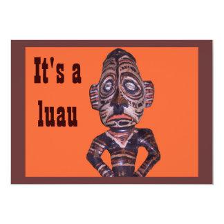 Polynesian Art Luau invitations
