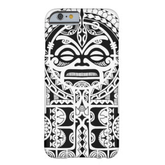 Polynesian tribal tattoo design with tiki mask iPhone 6 case