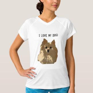 Pom Princess I Love My Dog V-Neck T-Shirt