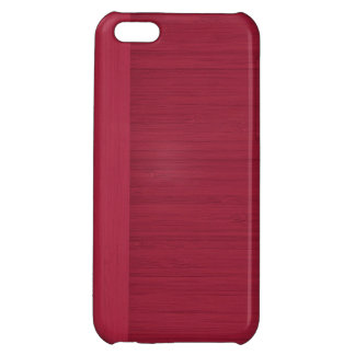 Pomegranate Bamboo Border Wood Grain Look Case For iPhone 5C