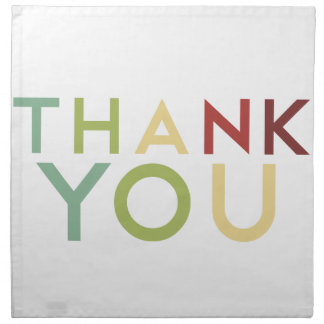Pomegranate Ink - Multi Color Thank You Napkin