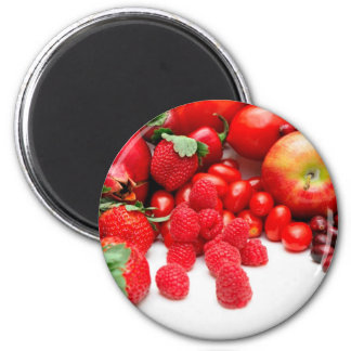 Pomegranate Strawberries And Raspberries Magnet