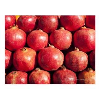Pomegranates on display at the Carmel Market Postcard
