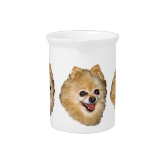 Pomeranian Dog Customisable Pitcher