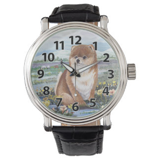 Pomeranian Puppy Dreamer Wristwatch