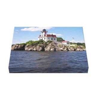 Pomham Rocks Lighthouse, Rhode Island Canvas Print