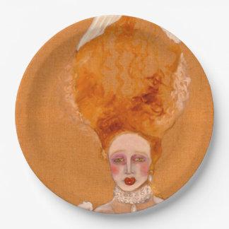 pompadour paper plate