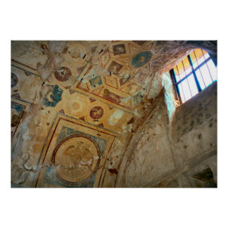Pompeii, Murals on an arched ceiling Poster