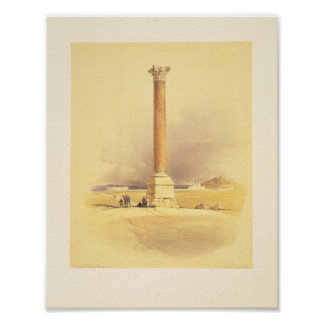Pompey's pillar. Alexandria Poster