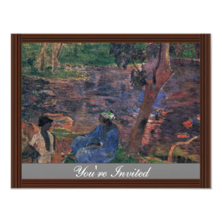 Pond By Gauguin Paul (Best Quality) Invitation