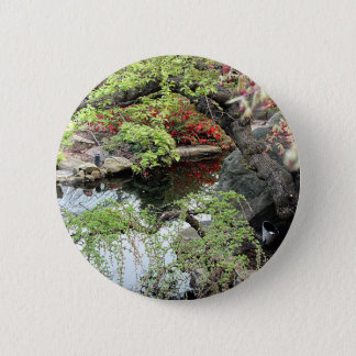 Pond Reflections 6 Cm Round Badge