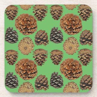 Ponderosa Pine Cone Coaster Set