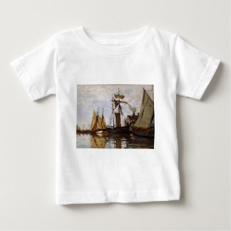 Pont of Honfleur Sun by Claude Monet Baby T-Shirt