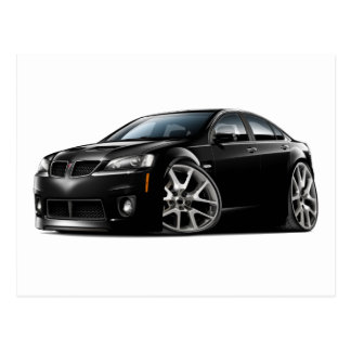 Pontiac G8 GXP Black Car Postcard