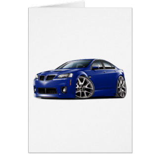 Pontiac G8 GXP Blue Car Card