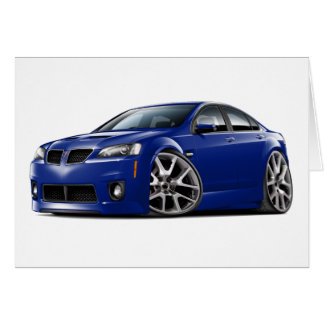 Pontiac G8 GXP Blue Car Card