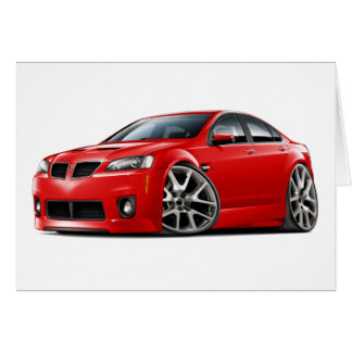 Pontiac G8 GXP Red Car Card