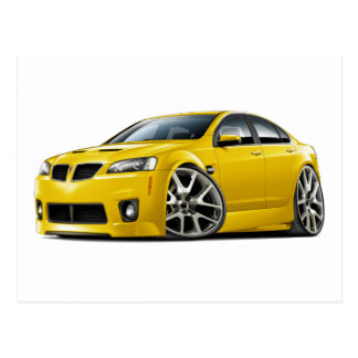 Pontiac G8 GXP Yellow Car Postcard