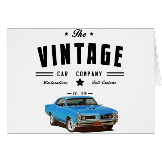 Pontiac GTO Vintage Car Company Card
