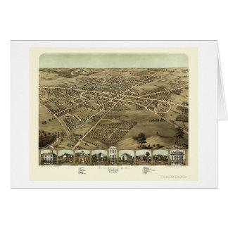 Pontiac, MI Panoramic Map - 1867 Card