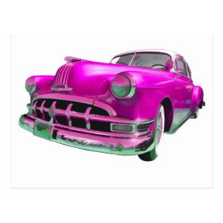 pontiac pink postcard